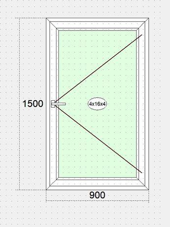 Вікно 1500*900 steko АКЦІЯ 33%