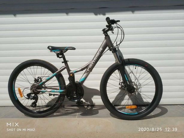 НОВЫЙ подростковый велосипед алюминий Crosser 24 и 26 Shimano Author