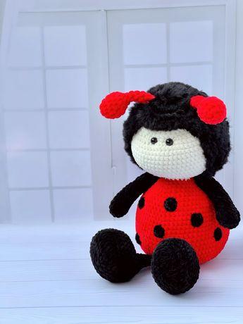 Плюшевая игрушка амигуруми. Пчела, Коровка, Бабочка.
