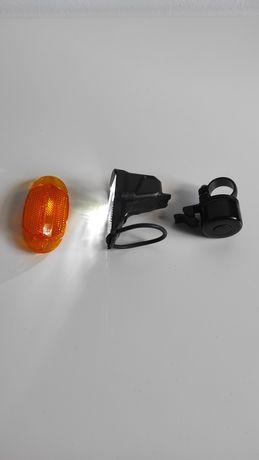 Luz led de bicicleta + campainha + acessório refletor para roda