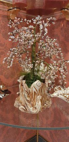 Дерево из бисера ручная работа