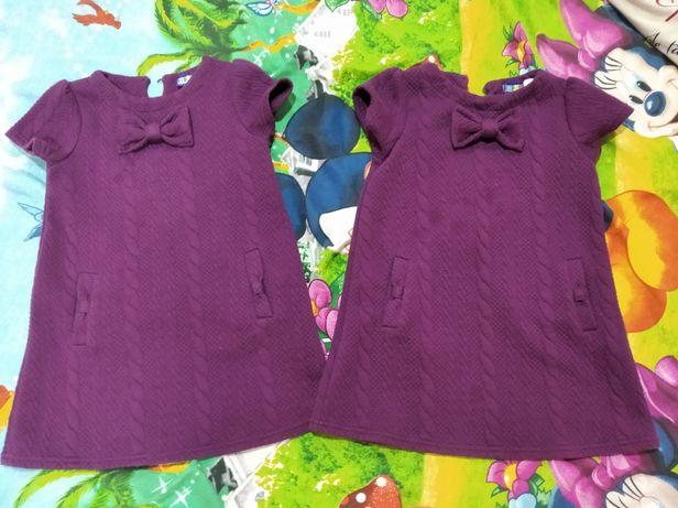 Платья для двойни 2-4 г