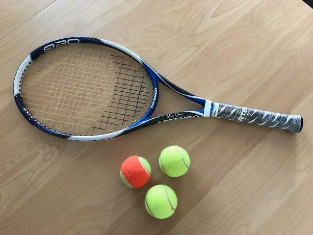 Raquete de ténis + 3 bolas