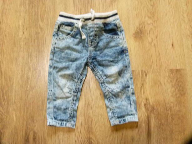 rozm. 68 F&F spodnie jeans marmurkowe chłopięce