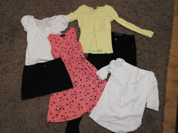 Paczka ubrań, bluzki spodnie, sukienka cena za całość 35 zl