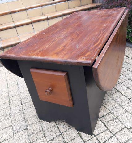 Śliczny rozkładany stół z litego drewna - kuchnia - salon