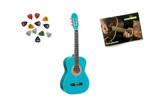 Gitara klasyczna 3/4 PRIMA +kurs+3piórka DARMOWA WYSYŁKA