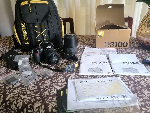 Nikon D3100 com objetiva sigma 70-300 mm