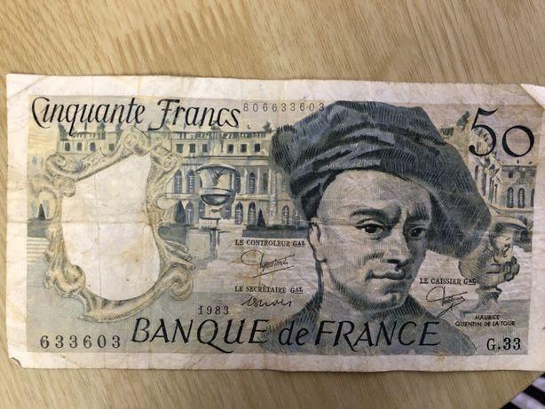 Франция 50 франков банкнота 1983 год