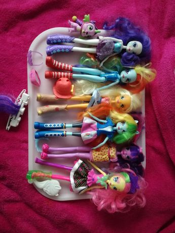 Mega Paka 6xLalki Hasbro My Little Pony Rarity,Rainbow