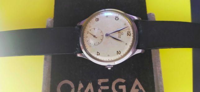 Kolekcjonerska stalowa Omega cal.28 z lat 40 XX w.  37,2 mm z koronką
