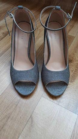 Buty srebrne ślubne