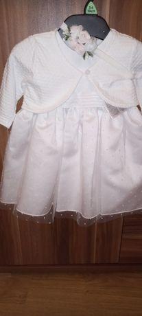 Kaplet do chrztu dla.dziewczynki z plaszczykiem