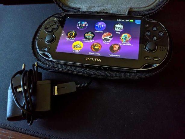 PS Vita OLED Desbloqueada 32Gb + Acessórios