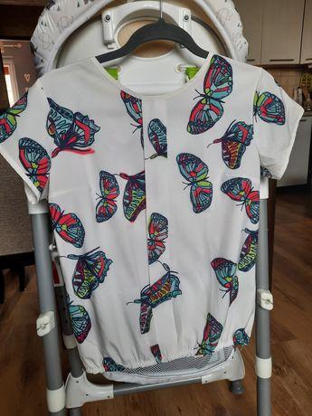 Bluzeczka w motylki z zakładką38 M