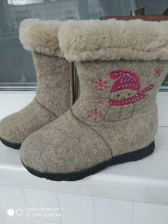 зимняя обувь на девочку размер 27