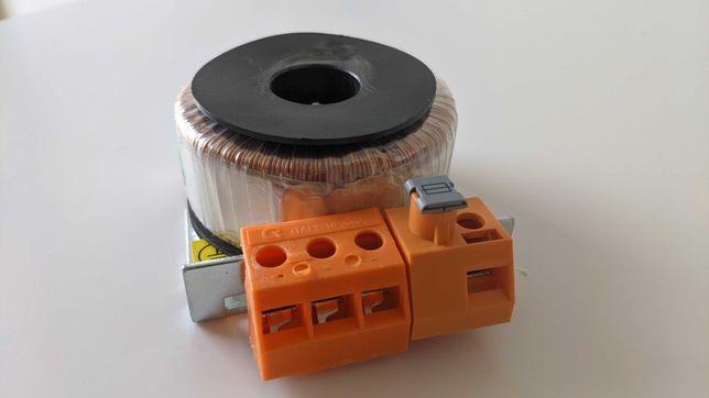 Transformator toroidalny 230VAC 19,5VAC 30VA 1,57A + złączka zaciskowa