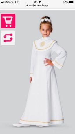 Alba komunijna sukienkowa Melania 146 raz ubrana plus buty i dodatki