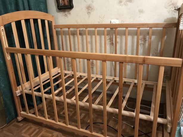 детская кроватка-качалка, матрас