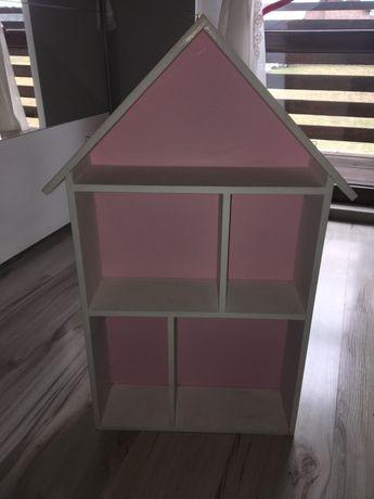 Domek drewniany półka wisząca dziecięca