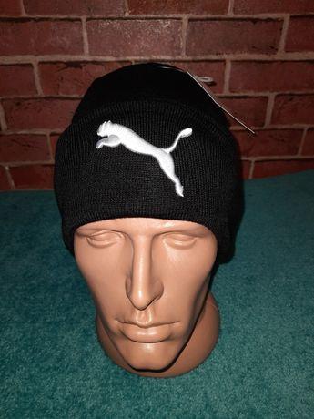 Теплая зимняя шапка Adidas, puma, the north face