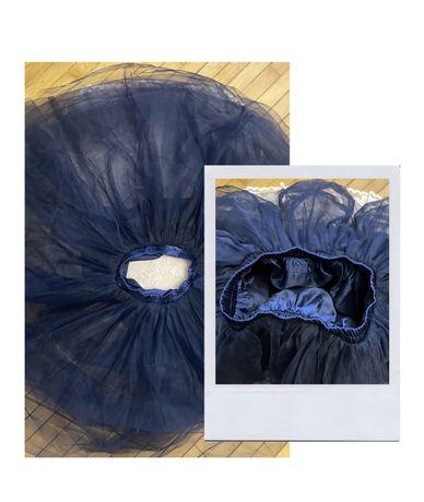 Фатиновая, многослойная, пышная синяя юбка в отл сост.