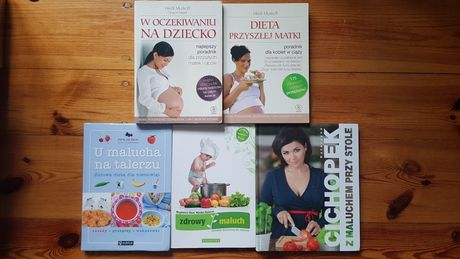 Pakiet 5 książek - ciąża i żywienie maluszka.