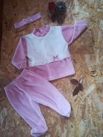 Conjuntos de veludo para bebé
