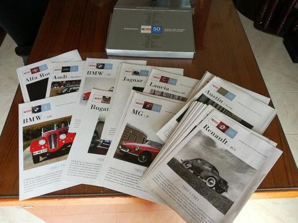 Coleção fichas informativas de 50 carros com história