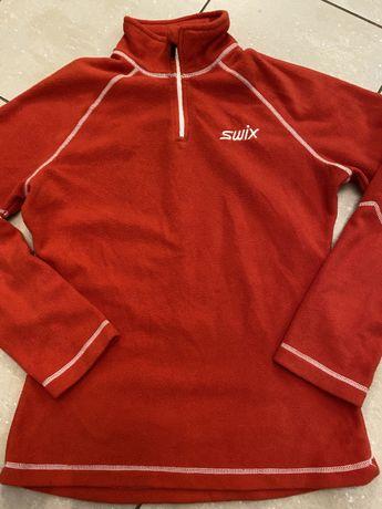 Swix Sport, ciepła bluza na narty Sczerwony polar