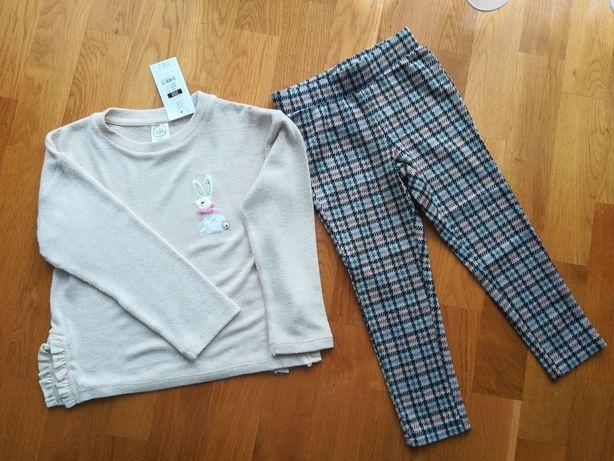 Bluzka+spodnie Nowe r. 104