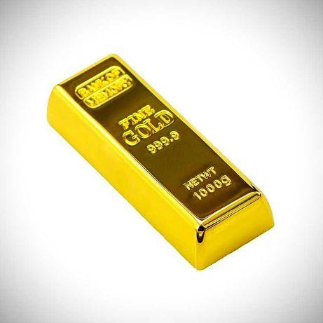 Флешка на 64ГБ   Внешний флеш накопитель   Слиток золота