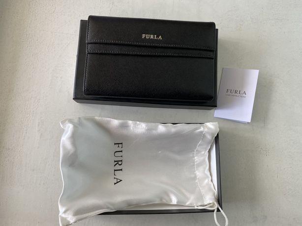 Кожаный кошелек Furla Оригинал чёрный