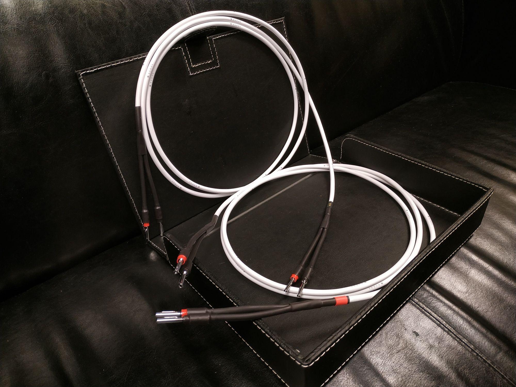 Kudos KS-1 Silver Kable głośnikowe konfekcja Trans Audio Hi-Fi