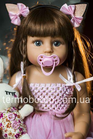 Кукла лялька Реборн 55 см силиконовая reborn куклы для девочек большие
