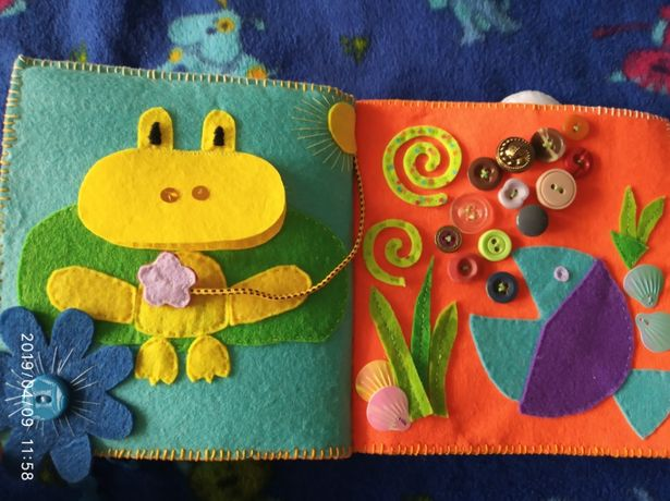 Книжка книга розвивайка фетр игра подарунок подарок іграшка игрушка