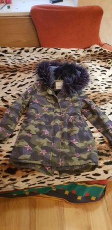 Куртка-пальто зимняя на 10-12 лет