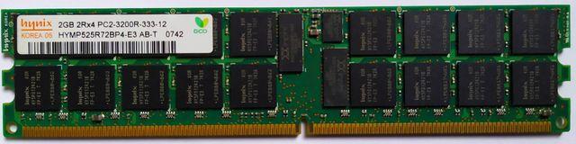 ДДР2 Registered Hynix 2Gb 2Rx4 PC2-3200R-333-12 DDR2-400 HYMP125R72BP4