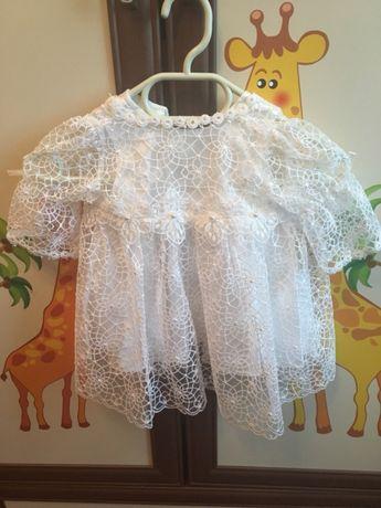 Белое платье для крещения. Костюм для крещения