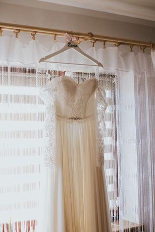 Suknia ślubna - kolor ecru - rozmiar 38