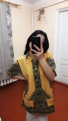 Рубашка с узорами / рубашка с этническим принтом
