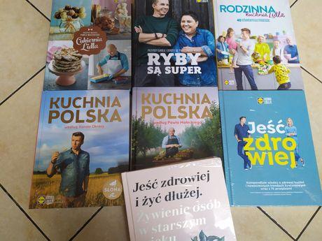 Książki Kuchnia LIDLA Rodzinna Polska Jeść Zdrowiej Cukiernia Ryby