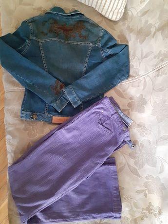 Пиджак джинсовый Casta & Puvo S р Новый /брюки Tommy Hilfiger  M - ка