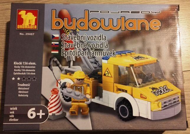 dromader 29407 dźwig pojazdy budowlane 156 elementów 6+