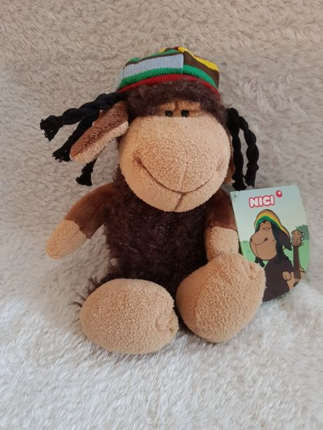 Nici owca owieczka Bob z dredami maskotka pluszak Przytulanka reggae