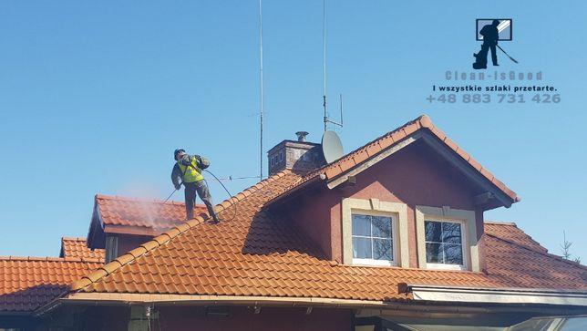 Mycie elewacji, kostki brukowej i dachów