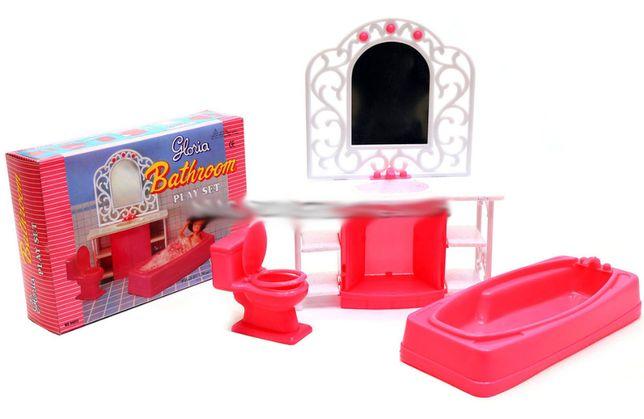 Łazienka dla lalki Barbie wanna lustro