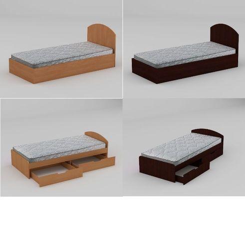 """Односпальная"""" Кровать 90+2"""" с выдвижными ящиками.Актуальная цена!"""