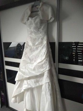 Anielska Angelo projektant suknia+futerko zamienię na rower!