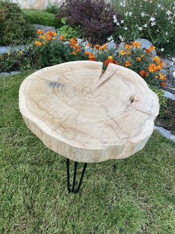 Stolik kawowy plaster drewna - dąb